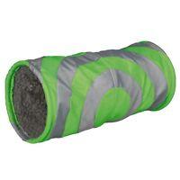 Trixie Cushy Plush Play Tunnel, 15 x 35 cm, Grey/ Green 6284