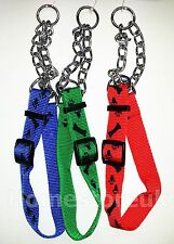 ADJUSTABLE SMALL LARGE 52-80CM DOG PUPPY DOGGY CHOKE COLLAR STRIP & CHAIN HT200