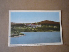 Vintage Postcard Pines Hotel and Cottages from Boat Landing Digby Nova Scotia