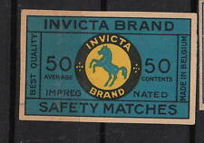 Ancienne étiquette   allumettes Belgique   A521  Cheval