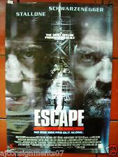 """Escape Plan {Schwarzenegger, Stallone} 40""""X27"""" OS Original VG Movie Poster 2013"""