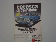 advertising Pubblicità 1977 MERCEDES 450 SEL BBURAGO