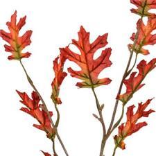Artificial Harvest Oak Leaf Spray X3 - Orange Autumn Leaves