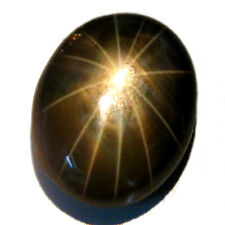 1 Piece 2.20 CT Oval Cabochon BLACK NATURAL Star Sapphire 12 RAYS