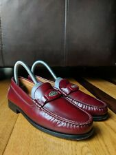 TOD'S Womens Burgundy Leather Slip-On Loafers SIZE 35.5 (US Size 5.5)