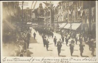 Oneida NY Downtown Parade c1905 Real Photo Postcard