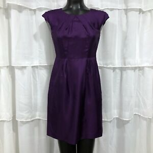 Size 2P Banana Republic Petite 100% Silk Sheath Purple