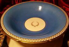 "VINTAGE Pickard China  Blue & Gold Large  Serving Round Bowl Dish 11,5"""