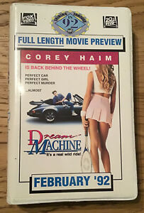 Rare Full Length Double Feature Dealer Promo VHS -Dying Young & Dream Machine.