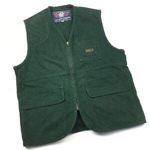 Box Canyon Vintage Mens Vest Gilet Small Green Workwear Australian Made