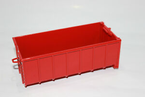 Roll Trough 1:50 Red Dump Truck New Roll Container