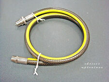 MIDBRASS 5 FOOT(1.5M) DOMESTIC GAS COOKER / OVEN HOSE STRAIGHT BAYONET X 1/2""