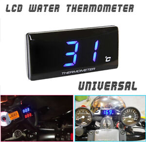 Blue LED Motorcycle Water Temp Temperature Gauge Thermometer For Racing Scooter