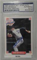 Don Drysdale 1983 Nabisco Hand Signed Card Los Angeles Dodgers PSA/DNA