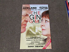 Joss ACKLAND & Dorothy TUTIN in the GIN Game by DL Coburn SAVOY Theatre Poster
