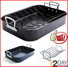 Non Stick Turkey Roaster With Rack With Handle Bakeware Roasting Oven Baking Pan photo