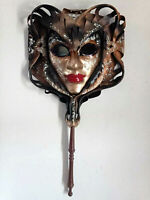 Narciso - Maschera veneziana carnevale indossabile in cartapesta e cuoio
