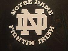 Notre Dame, Fightin Irish 5X5 car Decal stickers