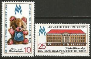 Germany East DDR GDR 1979 MNH Leipzig Fair Teddy Bear Blumenberg Building