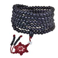 216 Prayer Sandalwood Beads Buddhist Charm Bracelet Necklace 6mm Mala Buddha