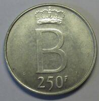 Belgium 250 francs 1976 Silver!