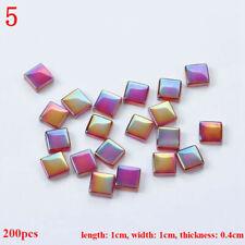 200Pcs Mosaic Tiles 1cm DIY Vitreous Square Glass Art Craft Candlestick Decor