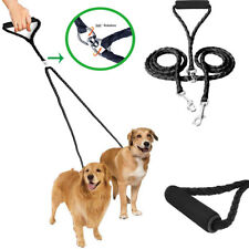 Dog Leash No Tangle Coupler Nylon Leash Dual Double for Two Large/Small Dogs New