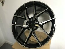 "19"" STAGGERED MERCEDES BENZ AMG Y SPOKE STYLE BLACK RIMS WHEELS FITS S CLASS"