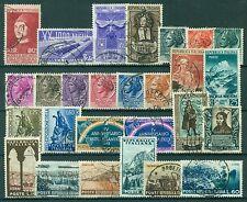 1953U ITALIA 1953 Annata completa USATA 27 valori, buone/ottime condizioni, USED