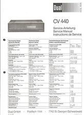 Dual Original Service Manual für CV 440