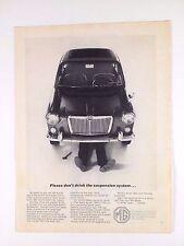 1965 MG Original Vintage Print Ad Car Automobile