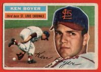 1956 Topps #14 Ken Boyer LOW GRADE FILLER St. Louis Cardinals FREE SHIPPING
