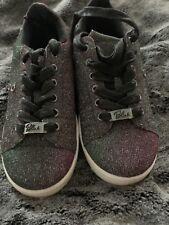 618a6760c696 Ladies Black Glitter Blink Lace Up Pumps Trainers Tkmaxx Size 5.5