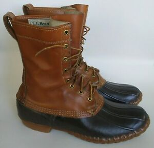 Vintage Men's LL Bean Maine Hunting Shoes Leather Duck Boots USA Size 11 M