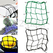 Motorcycle Bike Luggage 6 Hooks Net Helmet Holder Saddlebag Mesh Black Bangee .
