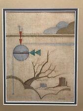 "David Chethlahe Paladin Original Painting ""The QUIET SUN""  MATTED 14.5"" x 12"""