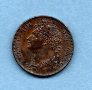 1822 KING GEORGE IV, COPPER FARTHING COIN.