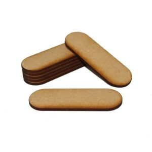 STADIUM (PILL) NATURAL MDF BASES for Roleplay Miniatures (50mm x 25mm)