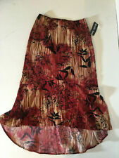 Bentley Arbuckle High-Low Women's Floral Skirt, Size Small NWT, Made in USA