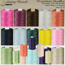 Sewing Thread 120 Spun Polyester Thread 1000 YARDS x 10 Spools