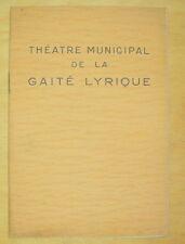 MUSIC HALL PROGRAMME THEATRE GAITE LYRIQUE OPERETTE LES JOLIES VIENNOISES 1938
