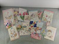Vintage Lot 20 Greeting Cards Baby Shower Scrapbooking Crafts