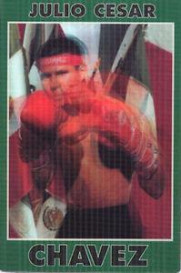 Chavez Boxing 3-D Lenticular Motion Postcard Promotional