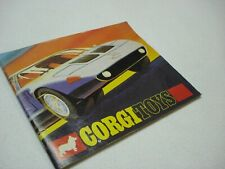 VINTAGE 1970 CORGI TOYS DIECAST CAR / TRUCK CATALOG BY METTOY PLAYCRAFT LTD