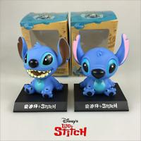 "New Disney Stitch Shake Head Action Figures Bobblehead PVC Toys With Box 4""/10cm"