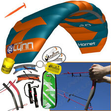 Peter Lynn Hornet 2M Foil Power Kite Quad Handle Trainer Kite 4-Line Handles