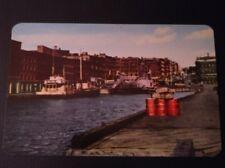 St. Saint John New Brunswick RPPC photo Postcard Market Slip at High Tide