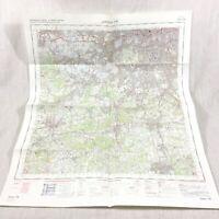 1970 Vintage Militare Map Sud Occidente London Dorking Guildford Epsom Richmond