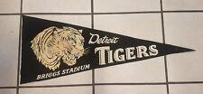 1940's Detroit Tigers Pennant Briggs Stadium MI Michigan Rare Vintage