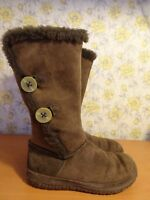 Womens Clarks Brown Wool Lined Winter Boots VGC - UK 5 FREE P&P!